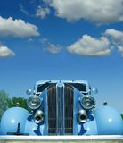 Antique Car with Blue Sky and Stock Photography