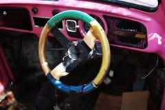 Antique car cockpit Stock Image