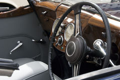 Antique car dashboard Stock Image