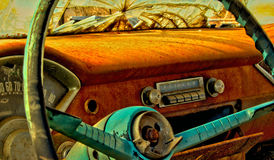 Antique car dashboard Royalty Free Stock Photography