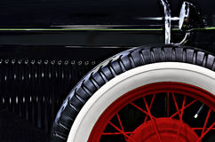 Antique Car Design Feature. In black and red Royalty Free Stock Images