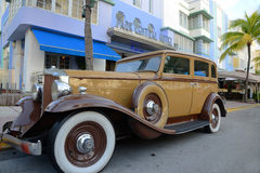Antique Car in front of Park Central Hotel Royalty Free Stock Photos