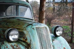 Antique Car Front View Stock Photography