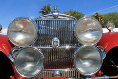 Antique car front in your face Royalty Free Stock Photo