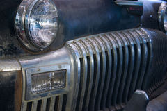 Antique Car Grill. Front grill of an antique car found in an old barn in Varnumtown, North Carolina Stock Photography
