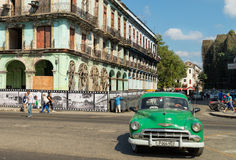 Antique car in Havana, Cuba Stock Images