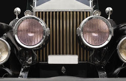 Antique car headlamps Stock Image