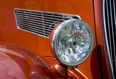 Antique Car Headlight. Selective focus on the headlight or an antique car Stock Photos