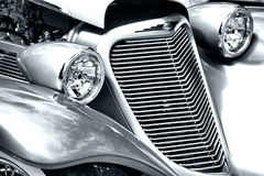 Antique Car Headlight and Grill Stock Photography