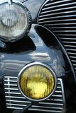 Antique Car Headlights Royalty Free Stock Photography