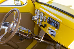 Antique Car Interior Stock Photo