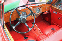 Antique Car Interior Royalty Free Stock Photography