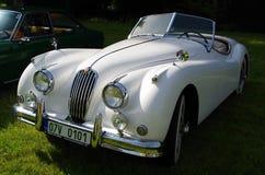 Antique car Jaguar Stock Photo