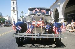 Antique Car in July 4th Parade, Ojai, California Stock Photography