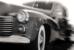 Antique Car in Motion Stock Images