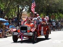Antique car in parade stock photos