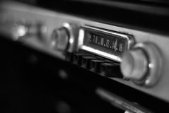 Antique Car Radio Stock Photography