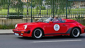 Porsche 911 Carrera 3.2 Speedster 1989. View of the antique car in the auto racing  Sachsen Classic 2014. August 22, 2014 Stock Photo
