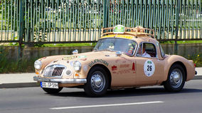 MG A 1600 1959. View of the antique car in the auto racing  Sachsen Classic 2014. August 22, 2014 Stock Photos