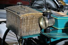 Antique car trunk Royalty Free Stock Photography