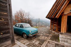 Antique car in a village Stock Photography