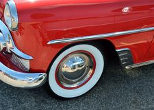 Antique car whitewall tire Stock Images