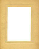 Antique Cardboard Frame. An antique cardboard folio frame Royalty Free Stock Photos