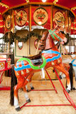 Antique carousel. At Christmas market on Dusseldorf town square Royalty Free Stock Images