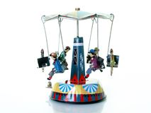 Antique carousel. Antique tin toy:merry go round Stock Image