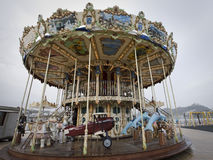 Antique carousel in donostia Royalty Free Stock Photos