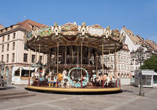Antique carousel,Merry Go Round Royalty Free Stock Photo