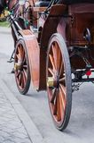 Antique carriage wheels Stock Image