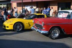 Antique cars at a car show Royalty Free Stock Photos