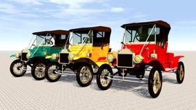 Antique Cars Stock Photo