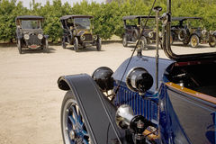 Antique cars parked Royalty Free Stock Image