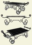 Antique Cart Vector 01. Antique Cart Isolated Illustration Vector Royalty Free Stock Photo