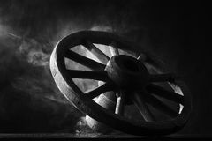 Antique cart wheel Royalty Free Stock Image