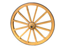 Antique Cart Wheel Stock Photography