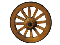 Antique Cart Wheel made of wood Royalty Free Stock Photography
