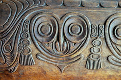 Antique Carved Wood Bas Relief Stock Photography
