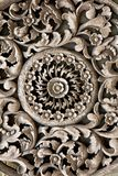Antique carved wooden stock images