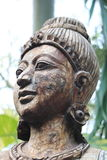 Antique carved wooden sculpture of Thailand Stock Images