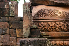 Antique Carving Sandstone Stock Photography