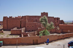 The antique Casbah in the center of Ouarzazate Stock Images