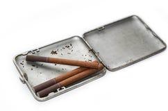 Antique case for cigarettes Stock Images