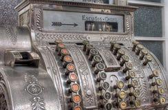 Antique cash register. Hdr image of antique portuguese cash register Royalty Free Stock Photography