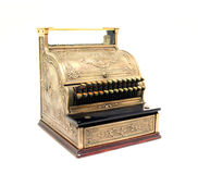 Antique Cash Register. Photographed on white Stock Photography