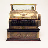 Antique Cash Register. Photographed on white Royalty Free Stock Images