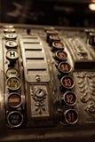 Antique Cash Register. Close up of antique cash register Stock Photos
