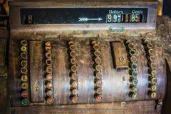 Antique Cash Register. An old rusty antique cash register Stock Photos